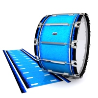 Dynasty Custom Elite Bass Drum Slip - Bermuda Blue (Blue)