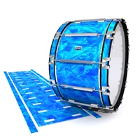 Dynasty Custom Elite Bass Drum Slip - Blue Cosmic Glass (Blue)