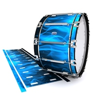 Dynasty Custom Elite Bass Drum Slip - Blue Flames (Themed)
