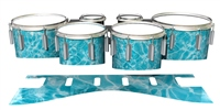Dynasty 1st Generation Tenor Drum Slips - Aquatic Refraction (Themed)