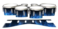 Dynasty 1st Generation Tenor Drum Slips - Blue Flames (Themed)