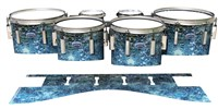 Dynasty Custom Elite Tenor Drum Slips - Aeriform (Blue)