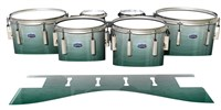 Dynasty Custom Elite Tenor Drum Slips - Alpine Fade (Green)