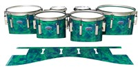 Dynasty Custom Elite Tenor Drum Slips - Aqua Cosmic Glass (Aqua)