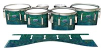 Dynasty Custom Elite Tenor Drum Slips - Aquamarine Blue Pearl (Aqua)