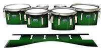 Dynasty Custom Elite Tenor Drum Slips - Asparagus Stain Fade (Green)