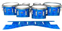 Dynasty Custom Elite Tenor Drum Slips - Blue Cosmic Glass (Blue)