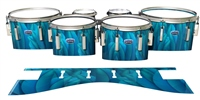 Dynasty Custom Elite Tenor Drum Slips - Blue Feathers (Themed)