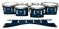 Dynasty Custom Elite Tenor Drum Slips - Blue Horizon Stripes (Blue)