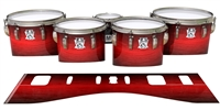 Ludwig Ultimate Series Tenor Drum Slips - Active Red (Red)