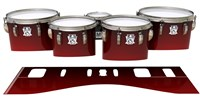 Ludwig Ultimate Series Tenor Drum Slips - Apple Maple Fade (Red)