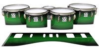 Ludwig Ultimate Series Tenor Drum Slips - Asparagus Stain Fade (Green)