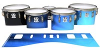 Ludwig Ultimate Series Tenor Drum Slips - Blue Light Rays (Themed)