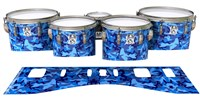 Ludwig Ultimate Series Tenor Drum Slips - Blue Wing Traditional Camouflage (Blue)