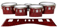 Ludwig Ultimate Series Tenor Drum Slips - Deep Red Paisley (Themed)