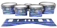 Ludwig Ultimate Series Tenor Drum Slips - Electric Tiger Camouflage (Purple)