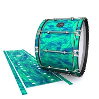 Mapex Quantum Bass Drum Slip - Aqua Cosmic Glass (Aqua)