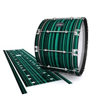 Mapex Quantum Bass Drum Slip - Aqua Horizon Stripes (Aqua)