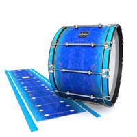 Mapex Quantum Bass Drum Slip - Aquatic Blue Fade (Blue)