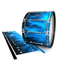 Mapex Quantum Bass Drum Slip - Blue Flames (Themed)