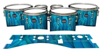 Mapex Quantum Tenor Drum Slips - Blue Feathers (Themed)