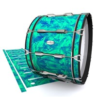 Pearl Championship Maple Bass Drum Slip - Aqua Cosmic Glass (Aqua)