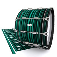 Pearl Championship Maple Bass Drum Slip - Aqua Horizon Stripes (Aqua)