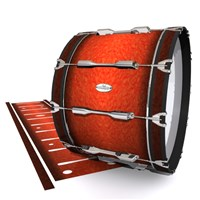 Pearl Championship Maple Bass Drum Slip - Autumn Fade (Orange)