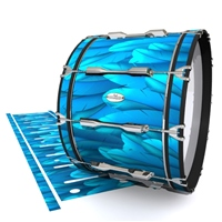 Pearl Championship Maple Bass Drum Slip - Blue Feathers (Themed)