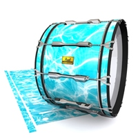 Pearl Championship Maple Bass Drum Slip (Old) - Aquatic Refraction (Themed)