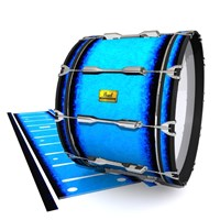 Pearl Championship Maple Bass Drum Slip (Old) - Bermuda Blue (Blue)