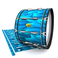 Pearl Championship Maple Bass Drum Slip (Old) - Blue Feathers (Themed)