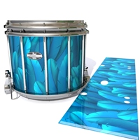 Pearl Championship CarbonCore Snare Drum Slip - Blue Feathers (Themed)
