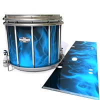 Pearl Championship CarbonCore Snare Drum Slip - Blue Flames (Themed)
