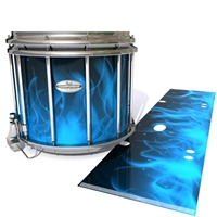 Pearl Championship Maple Snare Drum Slip - Blue Flames (Themed)