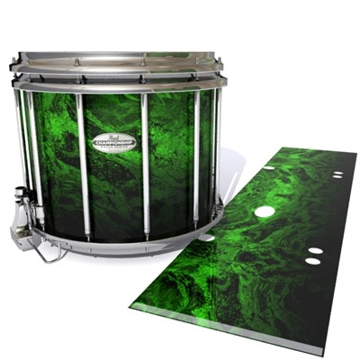 Pearl Championship Maple Snare Drum Slip - Forest GEO Marble Fade (Green)