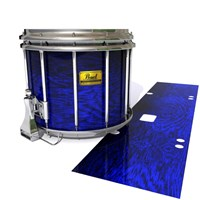 Pearl Championship Maple Snare Drum Slip (Old) - Andromeda Blue Rosewood (Blue)
