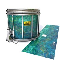 Pearl Championship Maple Snare Drum Slip (Old) - Aquamarine Blue Pearl (Aqua)