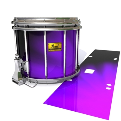 Pearl Championship Maple Snare Drum Slip (Old) - Purple Light Rays (Themed)