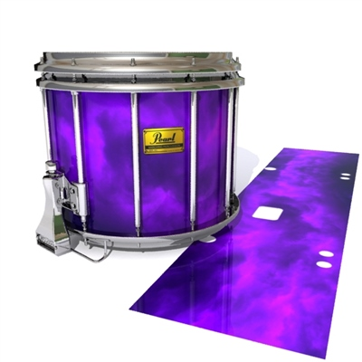Pearl Championship Maple Snare Drum Slip (Old) - Purple Smokey Clouds (Themed)