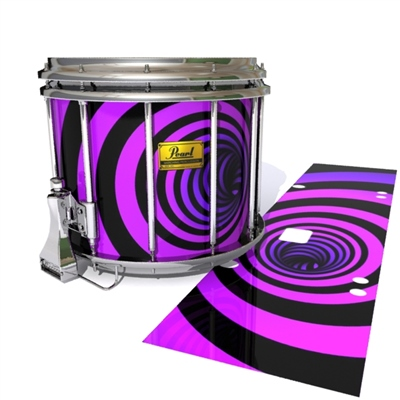 Pearl Championship Maple Snare Drum Slip (Old) - Purple Vortex Illusion (Themed)