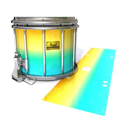 Pearl Championship Maple Snare Drum Slip (Old) - Set Sail (Aqua) (Yellow)