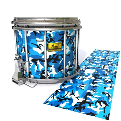 Pearl Championship Maple Snare Drum Slip (Old) - Sky Blue Traditional Camouflage (Blue)