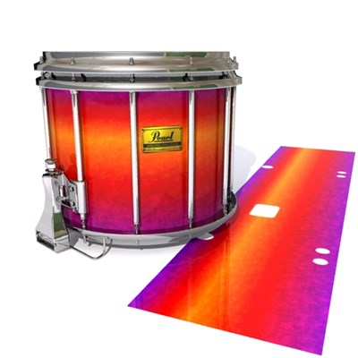 Pearl Championship Maple Snare Drum Slip (Old) - Supernova (Red) (Purple)