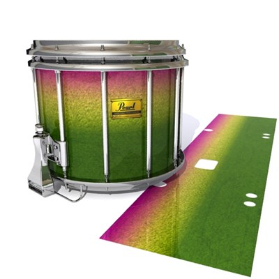 Pearl Championship Maple Snare Drum Slip (Old) - Tropical Hybrid (Green) (Yellow)