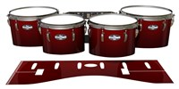Pearl Championship CarbonCore Tenor Drum Slips - Apple Maple Fade (Red)