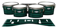 Pearl Championship CarbonCore Tenor Drum Slips - Aqua Horizon Stripes (Aqua)
