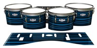 Pearl Championship CarbonCore Tenor Drum Slips - Blue Horizon Stripes (Blue)