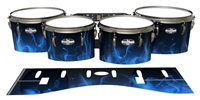 Pearl Championship CarbonCore Tenor Drum Slips - Blue Flames (Themed)
