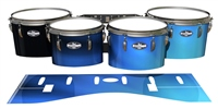 Pearl Championship CarbonCore Tenor Drum Slips - Blue Light Rays (Themed)